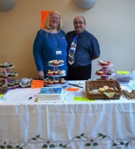 Sister Valerie Gulwell and husband Paul with some of the the cakes they baked