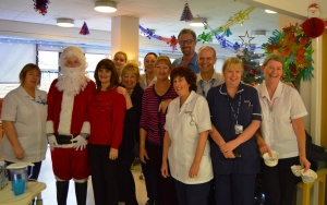 ard 1 staff with Santa, Ann, Bev and Christine Howe from Just Good Friends