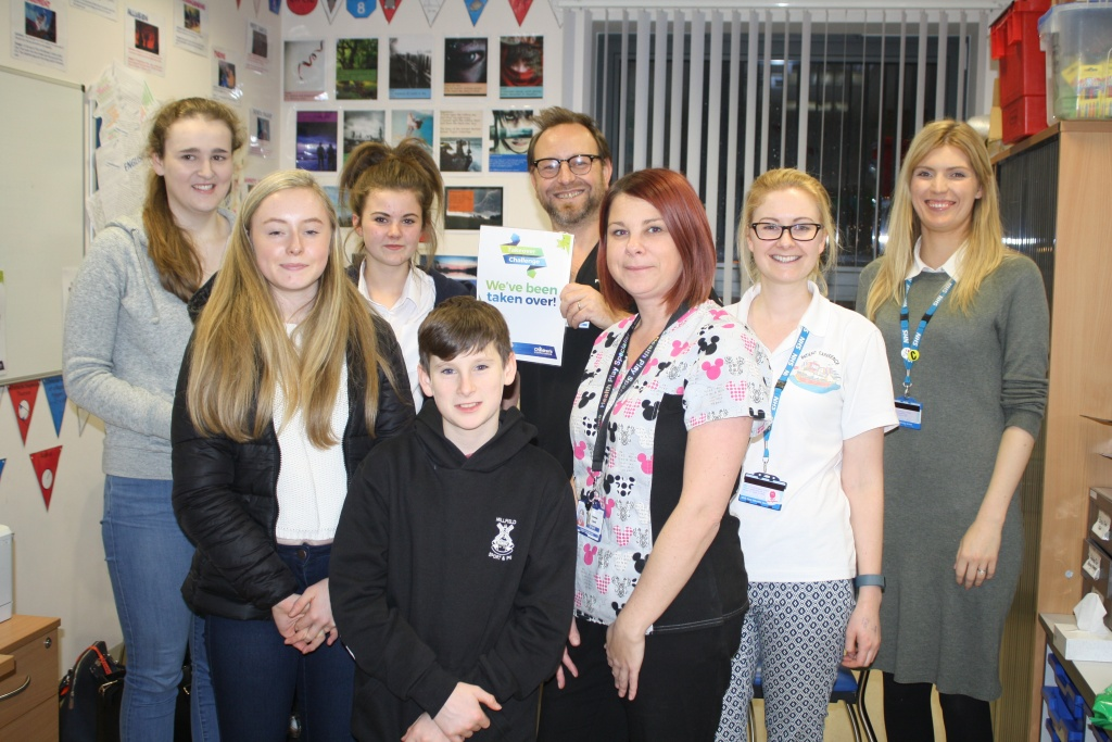 Youngsters and staff who took part in the Takeover Challenge Day at Blackpool Victoria Hospital.