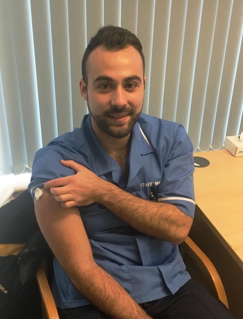 Staff nurse Javier Galindo