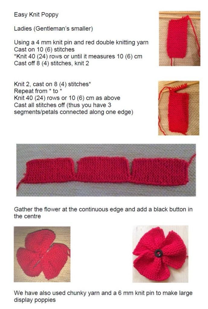 Thegreatbthknit Poppy Pattern Blackpool Teaching Hospitals Nhs