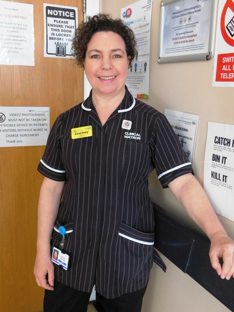 Clinical Matron of Clifton Hospital, Courtney Bickerdike