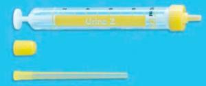 Paediatric mid stream urine collection sample tube