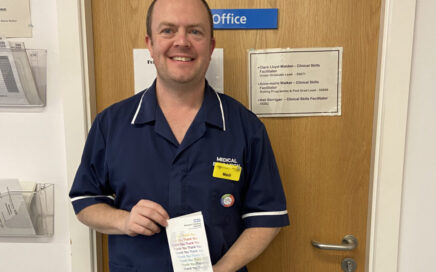 Neil Berrigan of Blackpool Teaching Hospitals has been awarded the Going The Extra Mile award.