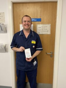 Neil Berrigan, Blackpool Teaching Hospitals' latest Going The Extra Mile winner.