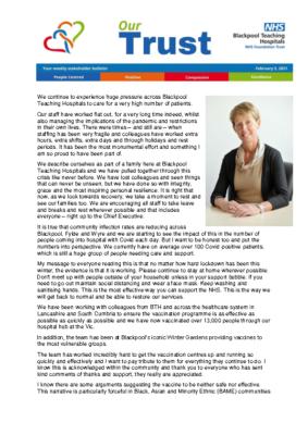 Stakeholder bulletin 2021-02-05