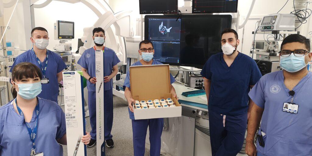 The cardiac electrophysiology team at the Lancashire Cardiac Centre