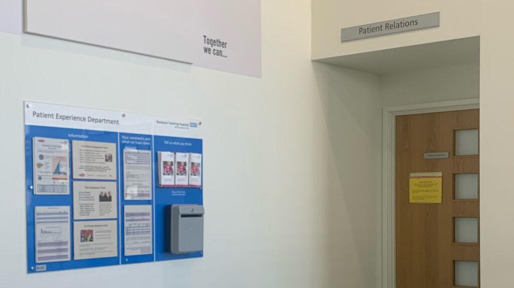 Patient Relations office
