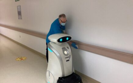 A robot cleaner at work at BTH