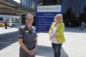 BTH's Jackie Brunton with Sue Ayrton
